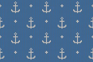 Anchor pattern on knitted texture