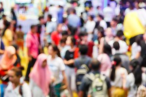 Blur people shopping