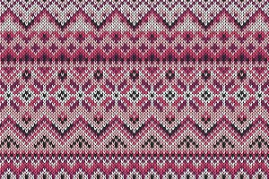 Seamless ornament on knitted texture