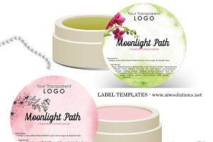 Round Label Template-ID01