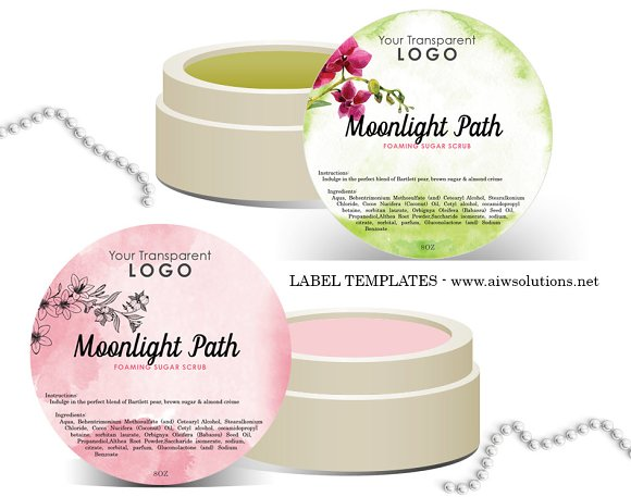 Round Label Template-ID01 ~ Stationery Templates ~ Creative Market