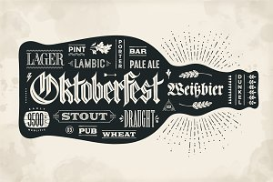 Hand drawn lettering for Oktoberfest