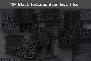Black Seamless Texture Patterns