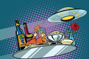 Flying a dinner tray and UFO