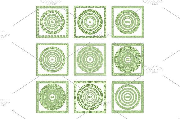 set green Greek borders. vector - Graphics