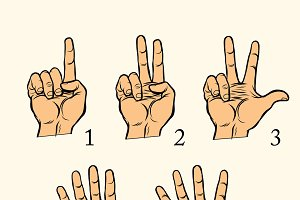 hand gestures count 1 2 3 4 and 5