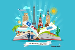 Open book about Big Trip