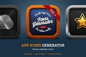 APP ICONS GENERATOR Vol.1