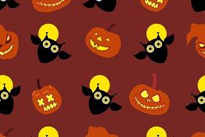 Seamless background Happy Halloween