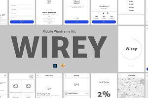 Wirey Mobile Wireframe Kit