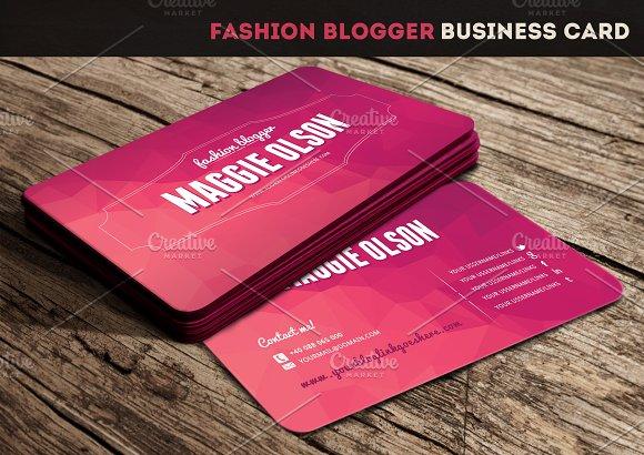 Fashion blogger business card business card templates on for Business cards for bloggers
