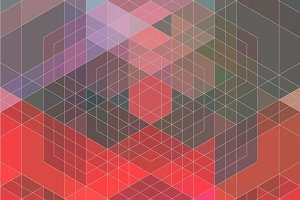 Hexagons Color Composition
