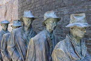 Bread line sculpture