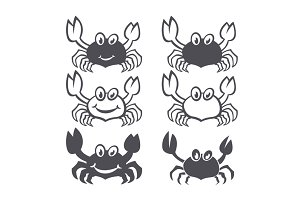 set Crab vector