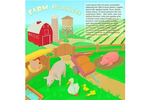 Farm products concept illustration