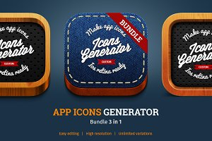APP ICONS GENERATOR Bundle 3 in 1