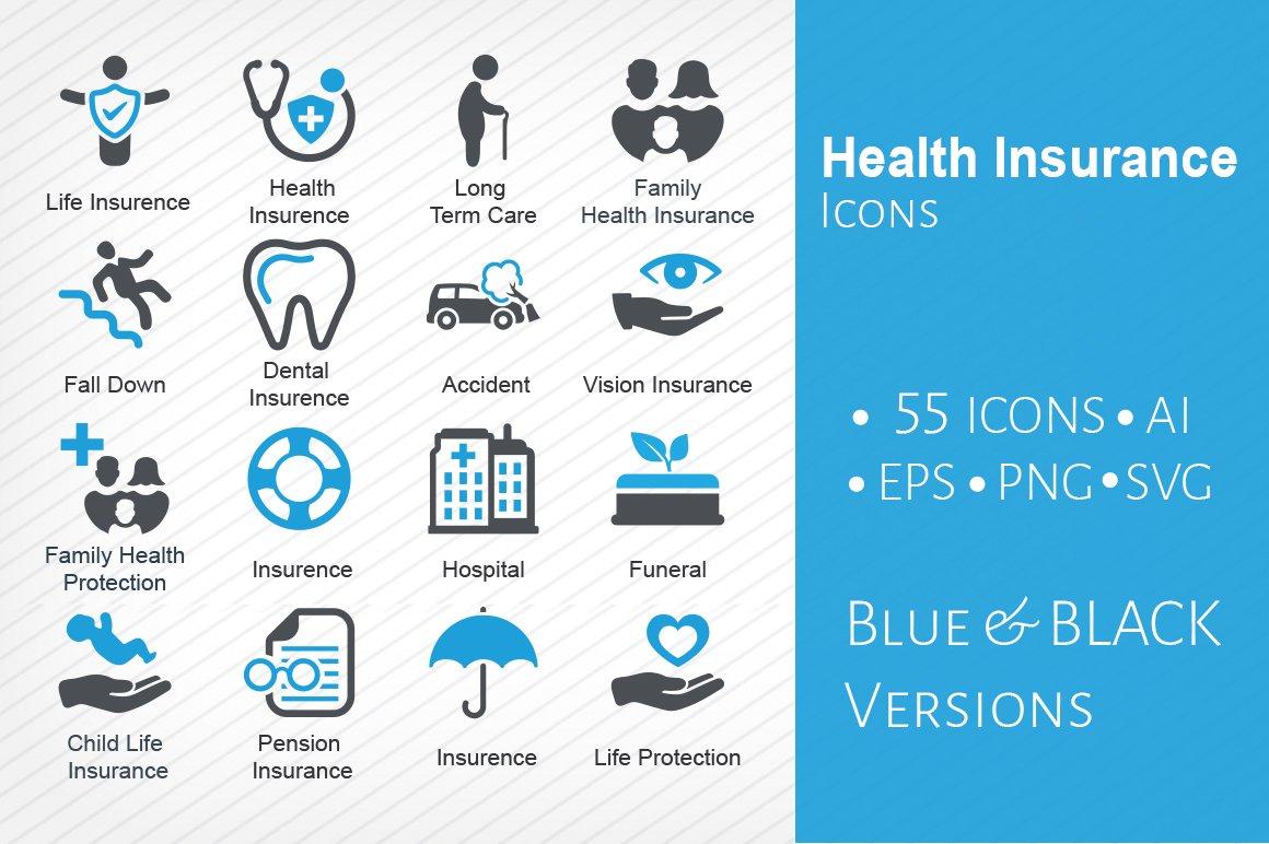 Health Insurance Icons Icons Creative Market