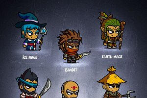 RPG Cartoon Characters - 2d game art