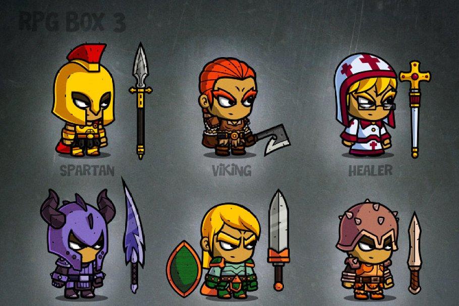 RPG Cartoon Characters - 2d game art