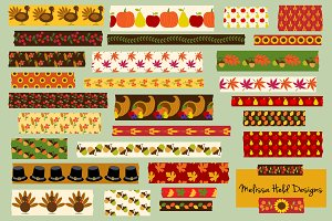 Thanksgiving Washi Tape Clipart