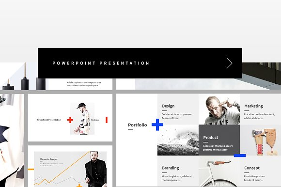 Fashion minimal powerpoint presentation templates creative market toneelgroepblik Image collections