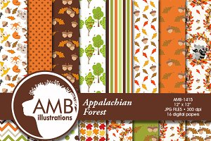 Fall Forest Digital Papers 1415
