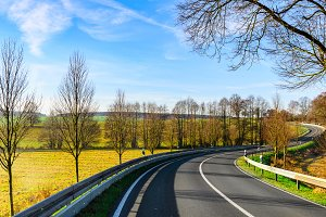 autumn road scene