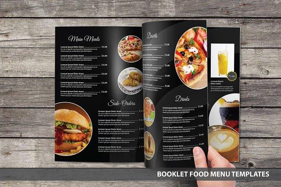 multipurpose food menu template brochure templates creative market