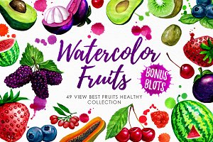 Watercolor Fruits Vol. 3