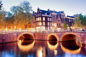 City of Amsterdam at Dusk