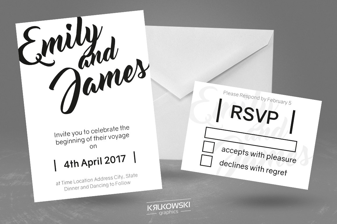 White Wedding Invitation Template ~ Invitation Templates ~ Creative ...