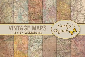 Maps Digital Background