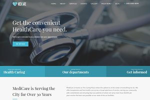 Medicare - Medical Html Template