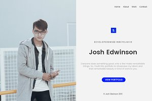 Person Split Portfolio Template