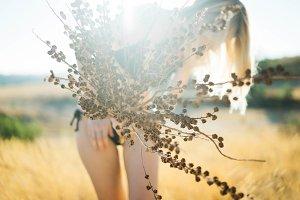 autumn sunny portrait