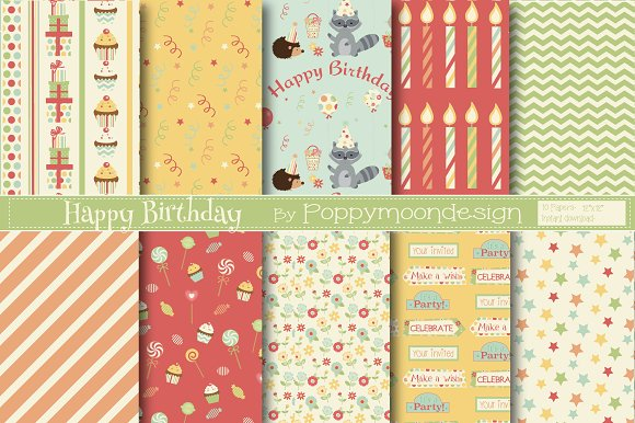 Woodland Birthday Bundle in Illustrations - product preview 1