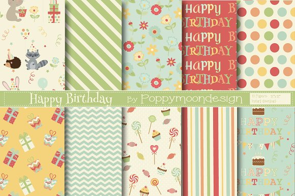Woodland Birthday Bundle in Illustrations - product preview 2