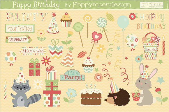Woodland Birthday Bundle in Illustrations - product preview 3