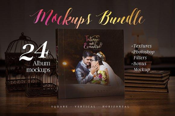 Free Photography album mockup bundle