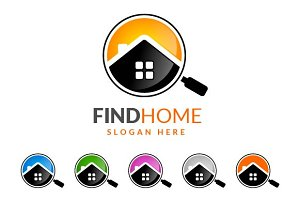 Real estate logo,find home,search v2
