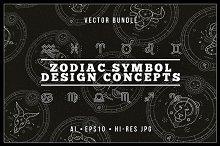 Zodiacal emblems bundle