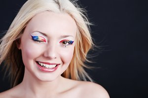 girl with bright make-up