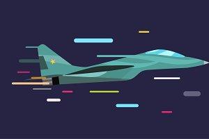 War military plane vector