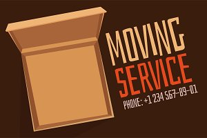 Move service box open vector