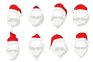 Claus face cut mask silhouette