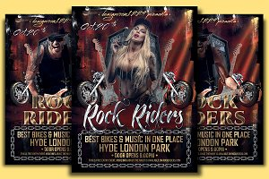 Rock Riders Flyer Template