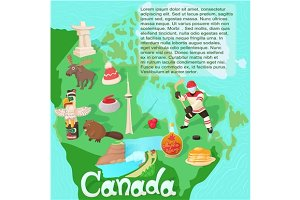Canada map travel