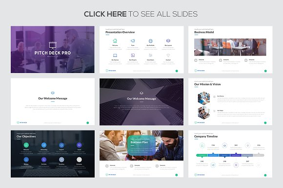 pitch deck pro google slides presentation templates creative
