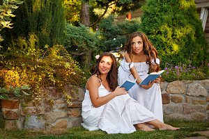 Two sisters and books