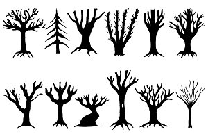 Winter Tree Illustrations